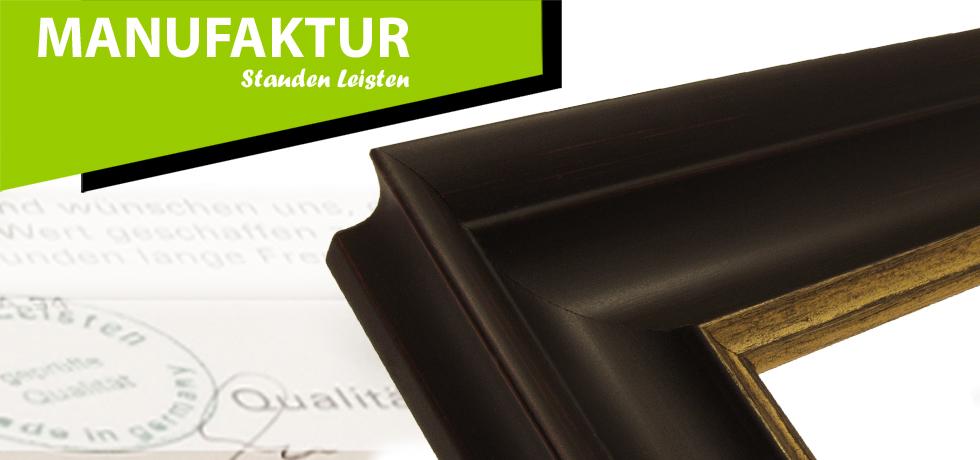bilderrahmen klassisch echtholzrahmen klassisches profil schwarz gold breite 48 mm. Black Bedroom Furniture Sets. Home Design Ideas